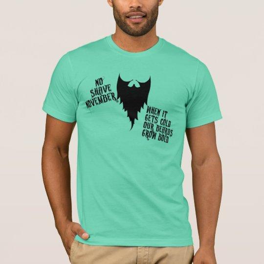 Ningún afeitado noviembre camiseta