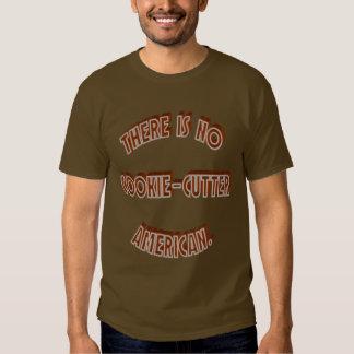 Ningún americano del Galleta-Cortador Camisetas