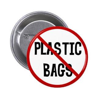 Ningún botón de las bolsas de plástico