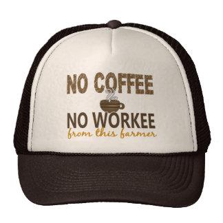 Ningún café ningún granjero de Workee Gorro De Camionero