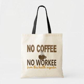 Ningún café ningún inspector de la salud de Workee Bolsa