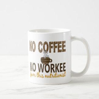 Ningún café ningún nutricionista de Workee Taza Clásica