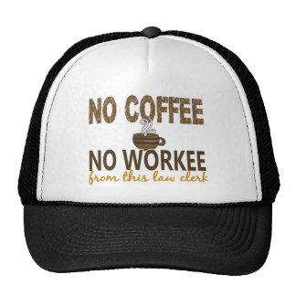 Ningún café ningún secretario judicial de Workee Gorras