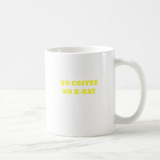 Ningún café ninguna radiografía taza de café