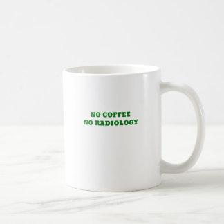Ningún café ninguna radiología taza de café