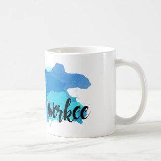 Ningún café ninguna taza de café de la acuarela de
