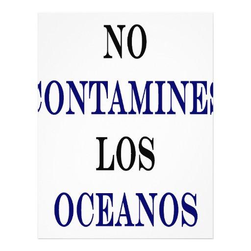 Ningún Contamines Los Oceanos Tarjeta Publicitaria