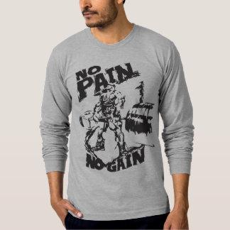 Ningún dolor ningún aumento - motivación del camisetas