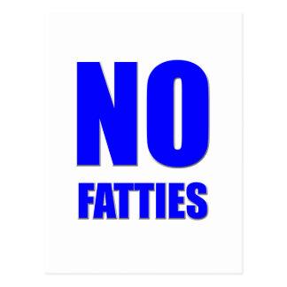 Ningún Fatties permitido Postal
