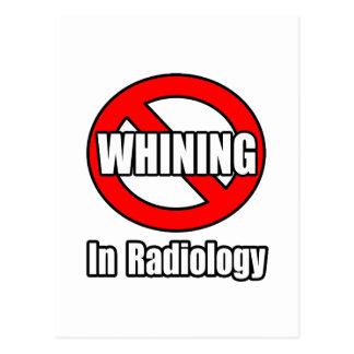 Ningún gimoteo en radiología postales