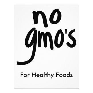 Ningún GMO para el blanco promocional de la comida Flyer Personalizado