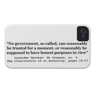 Ningún gobierno puede razonablemente ser de iPhone 4 Case-Mate protector