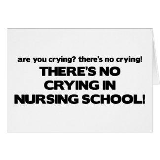Ningún griterío en escuela de enfermería tarjeta de felicitación