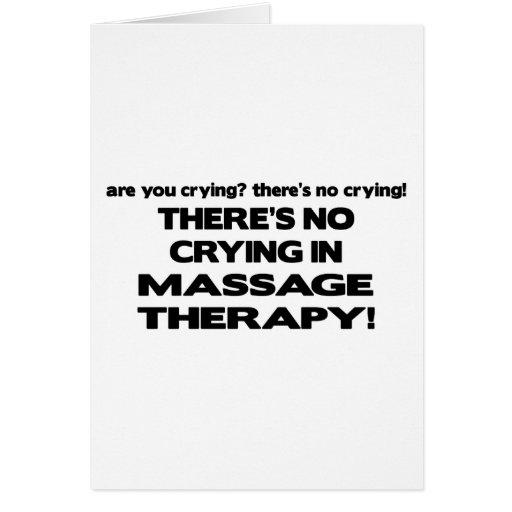 Ningún griterío en terapia del masaje felicitaciones