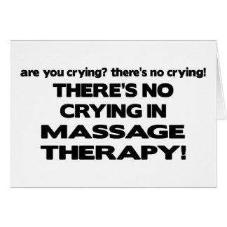 Ningún griterío en terapia del masaje tarjetas