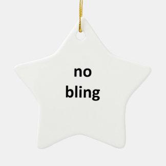 ningún jGibney bling3 los regalos de Zazzle del Adorno Navideño De Cerámica En Forma De Estrella