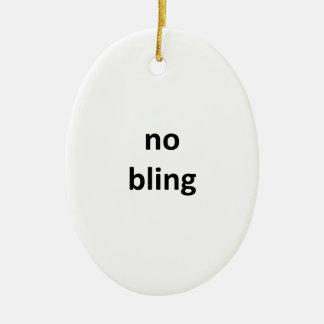 ningún jGibney bling3 los regalos de Zazzle del Adorno Navideño Ovalado De Cerámica