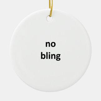 ningún jGibney bling3 los regalos de Zazzle del Adorno Navideño Redondo De Cerámica