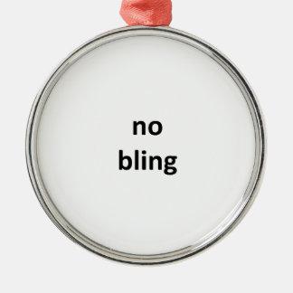 ningún jGibney bling3 los regalos de Zazzle del Adorno Navideño Redondo De Metal