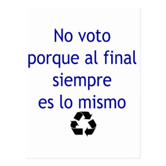 Ningún lo final Mismo de Siempre Es del Al de Voto Postal