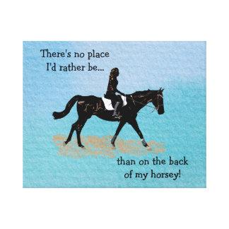 Ningún lugar sería bastante - caballo ecuestre impresion de lienzo