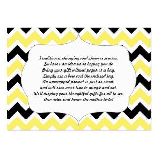 Ningún negro del amarillo de la fiesta de tarjetas de visita grandes
