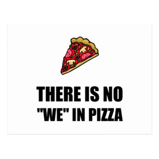 Ningún nosotros en pizza postal