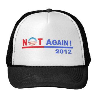 ¡Ningún Obama no otra vez 2012 Gorros Bordados