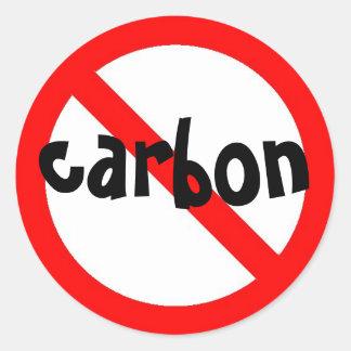 ningún pegatina del carbono