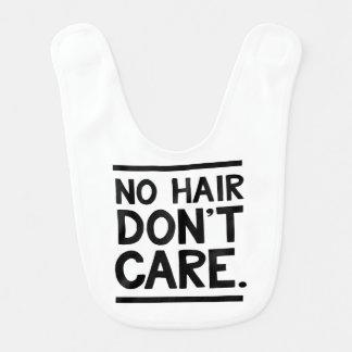 Ningún pelo, no cuida el babero del bebé