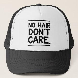 Ningún pelo no cuida la ropa gorra de camionero