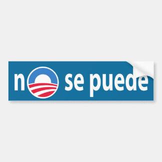 ningún puede del SE - Obama ningún biselamos Pegatina Para Coche