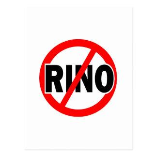 NINGÚN RINO - republicano/conservador/neocon/liber Tarjeta Postal
