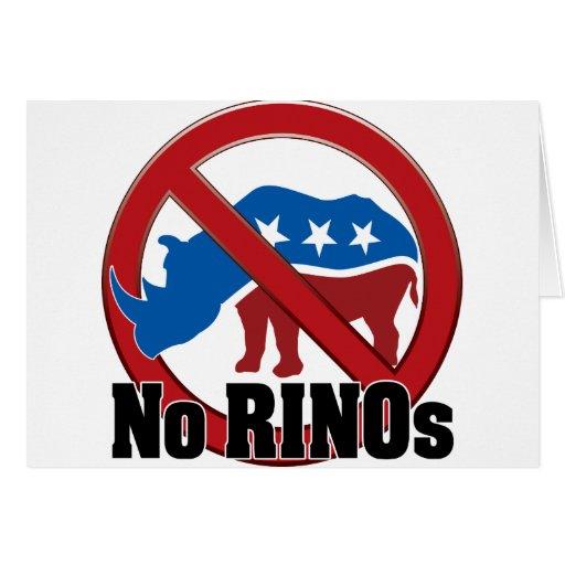 Ningún RINOs Felicitacion