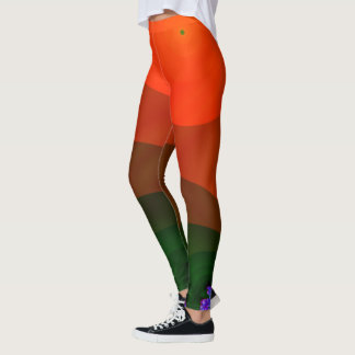 Ningún tan liso (naranja) leggings