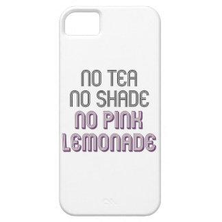 Ningún té ninguna sombra ninguna caja rosada del funda para iPhone SE/5/5s