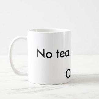 Ningún té taza básica blanca