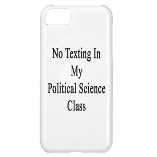 Ningún Texting en mi clase de la ciencia política