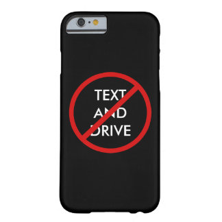 Ningún texto y conducción del mensaje de la funda barely there iPhone 6