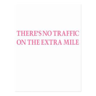 Ningún tráfico (guerrero rosado) postal