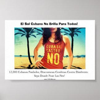 ¡Ningún Viajes una Cuba! Posters