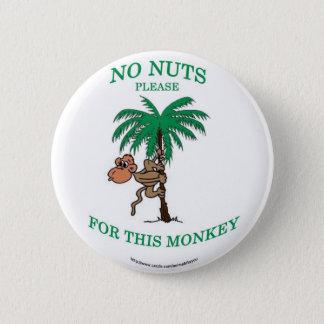 ¡Ninguna alergia nuts embroma el botón! Chapa Redonda De 5 Cm