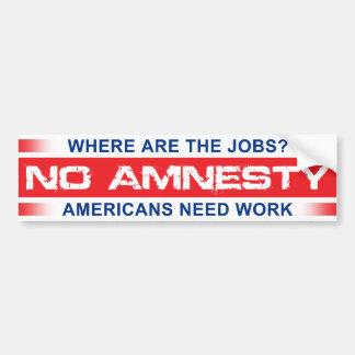 Ninguna amnistía pegatina para coche