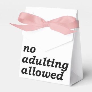 Ninguna caja permitida Adulting del favor (elija