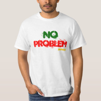 Ninguna camiseta blanca del valor de Jamaica del