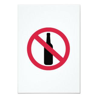 Ninguna cerveza invitación 8,9 x 12,7 cm