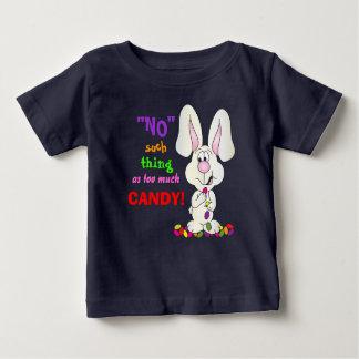 Ninguna cosa tal como demasiado caramelo - camiseta de bebé