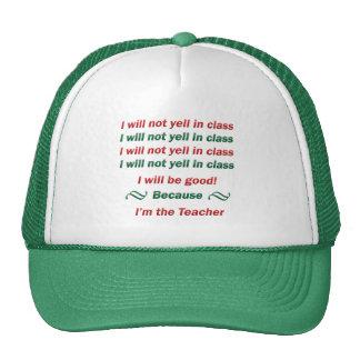 Ninguna griterío en clase gorras