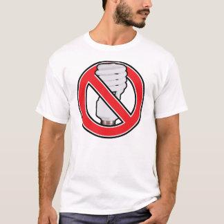 Ninguna iluminación fluorescente camiseta
