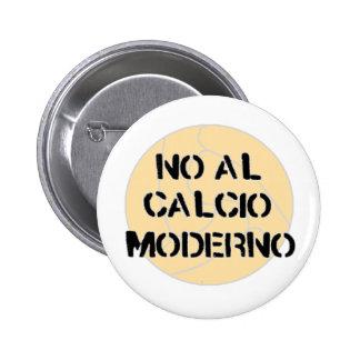 ninguna insignia del botón del moderno del calcio